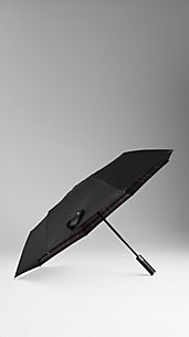 Check Lined Folding Umbrella