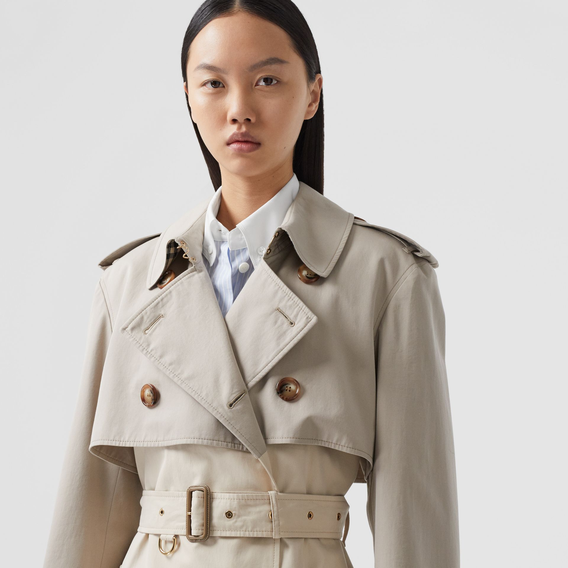 Two-tone Reconstructed Trench Coat in Light Sand - Women | Burberry United Kingdom - gallery image 1