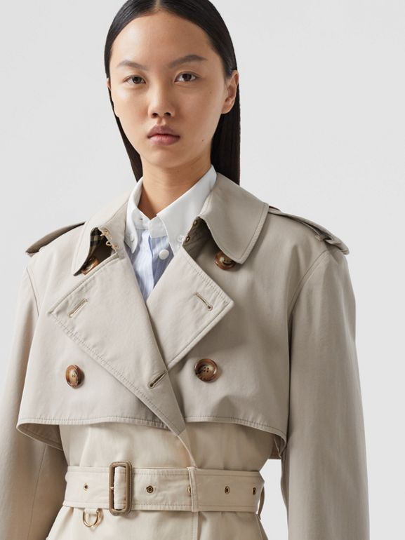 Two-tone Reconstructed Trench Coat in Light Sand - Women | Burberry United Kingdom - cell image 1