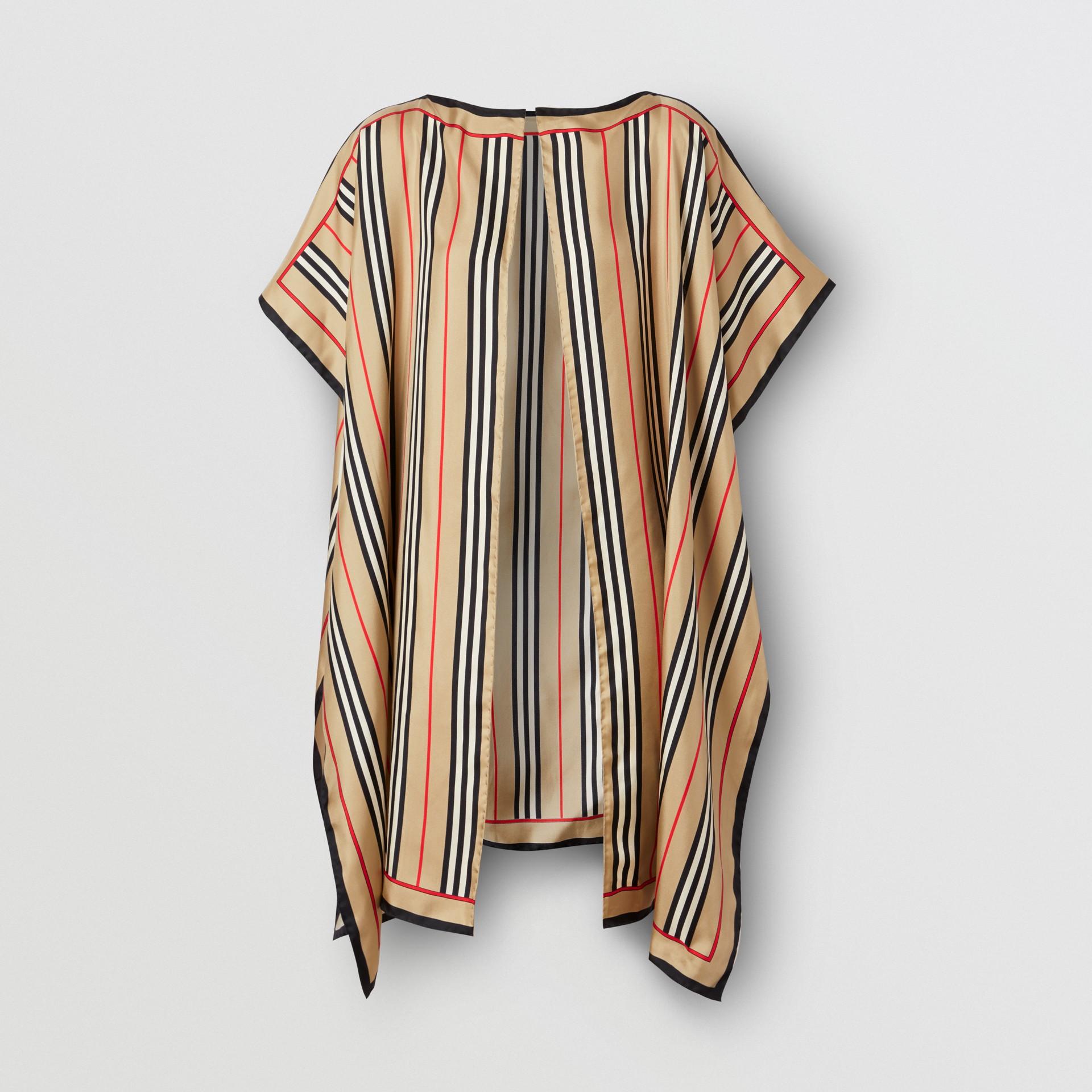 Icon Stripe Print Silk Twill Cape - Women | Burberry United Kingdom - gallery image 0