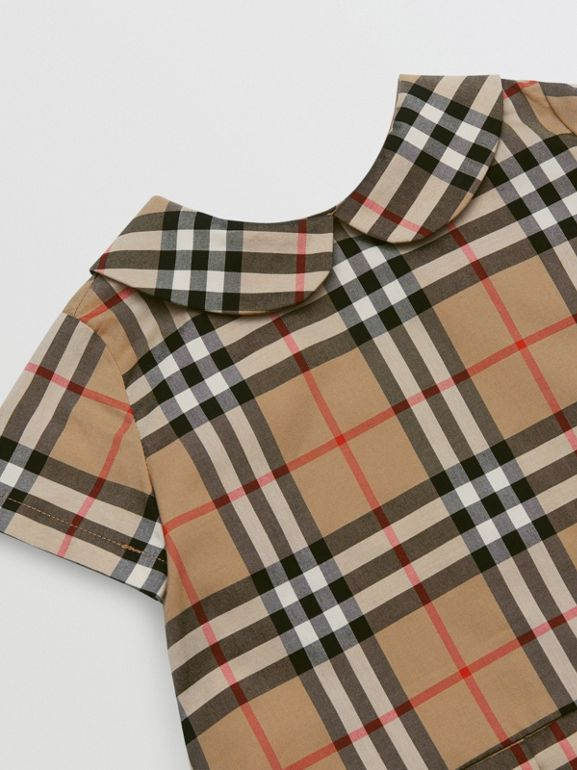 Peter Pan Collar Vintage Check Cotton Dress - Children | Burberry United Kingdom - cell image 1
