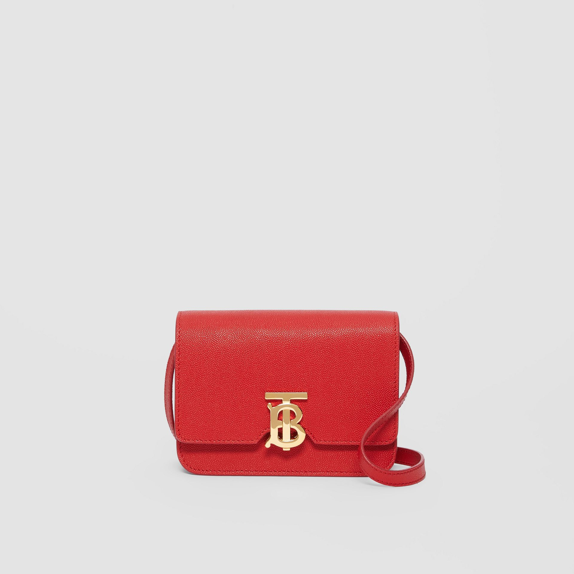 Mini Grainy Leather TB Bag in Bright Red - Women | Burberry Canada - gallery image 0