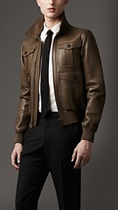 Bonded Nappa Leather Blouson