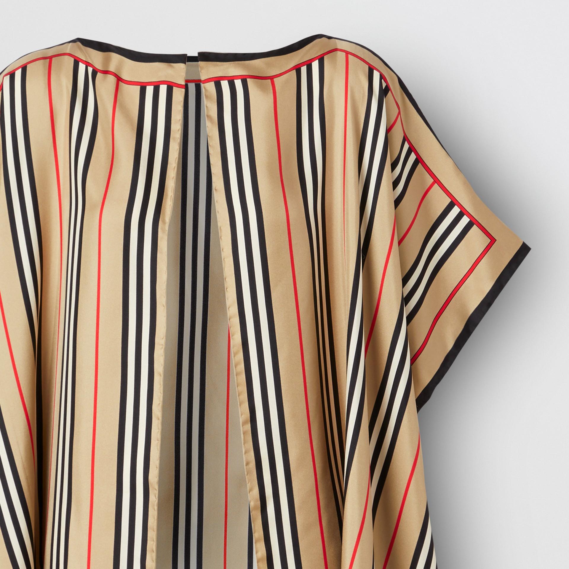 Icon Stripe Print Silk Twill Cape - Women | Burberry United Kingdom - gallery image 1