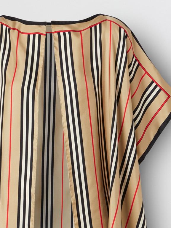 Icon Stripe Print Silk Twill Cape - Women | Burberry United Kingdom - cell image 1