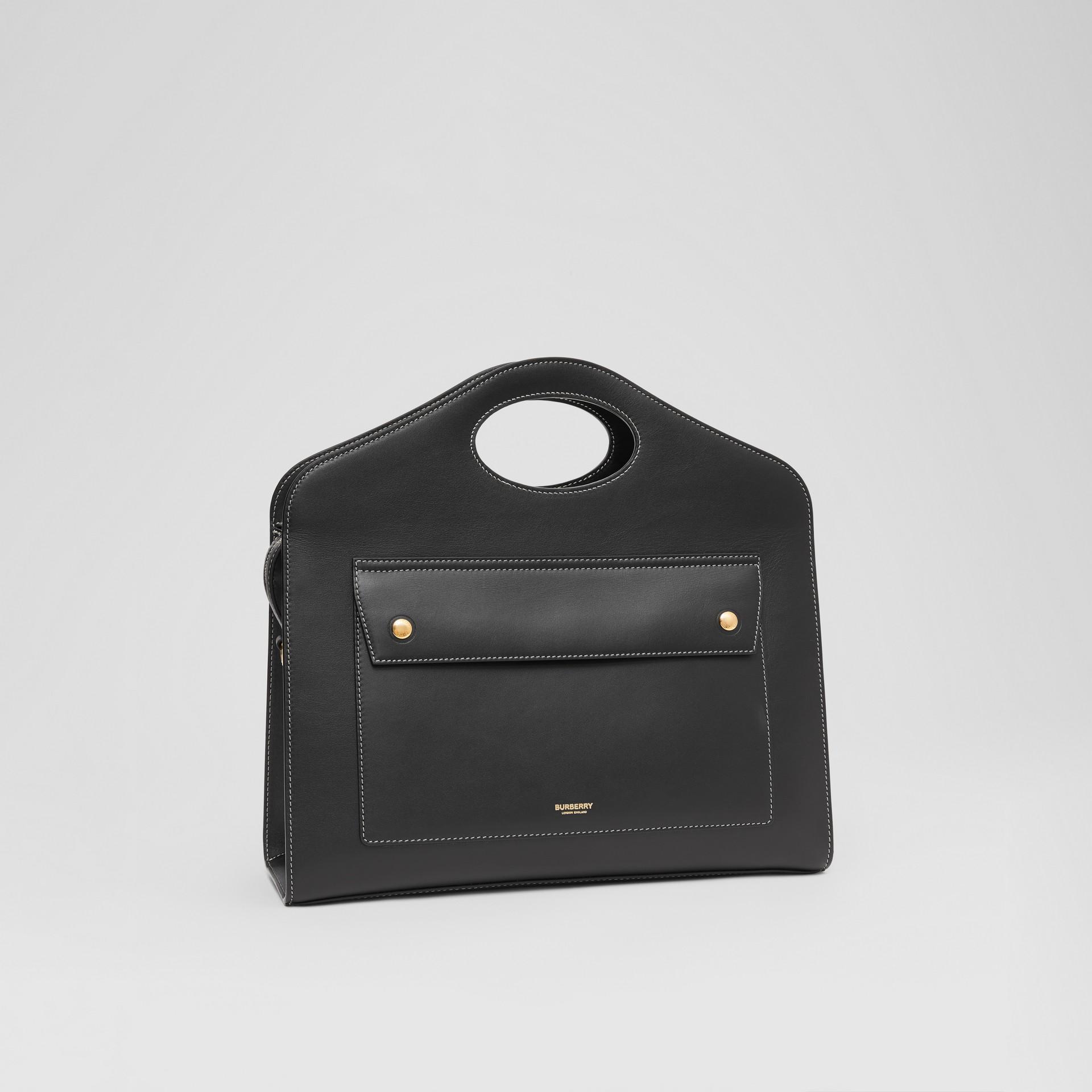 Mittelgroße Leder-Henkeltasche mit Steppnähten (Schwarz) - Damen | Burberry - Galerie-Bild 6