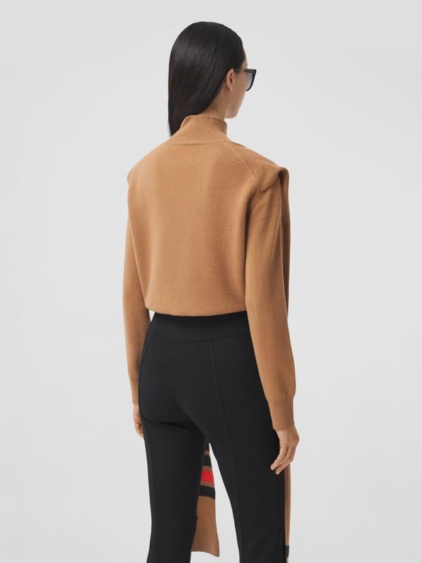 Pullover aus Merinowolle und Kaschmir mit Schal- und Streifendetail (Beige) - Damen | Burberry - cell image 2