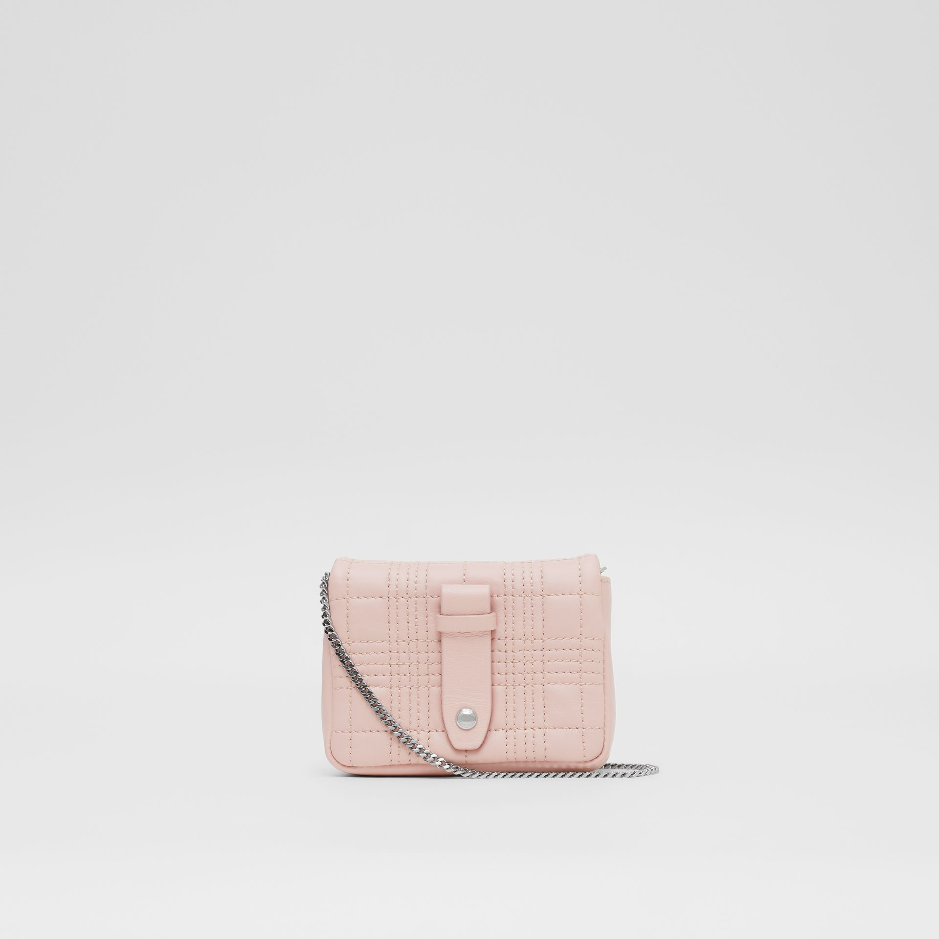 Micro Quilted Lambskin Lola Bag in Blush Pink - Women | Burberry United Kingdom - gallery image 7