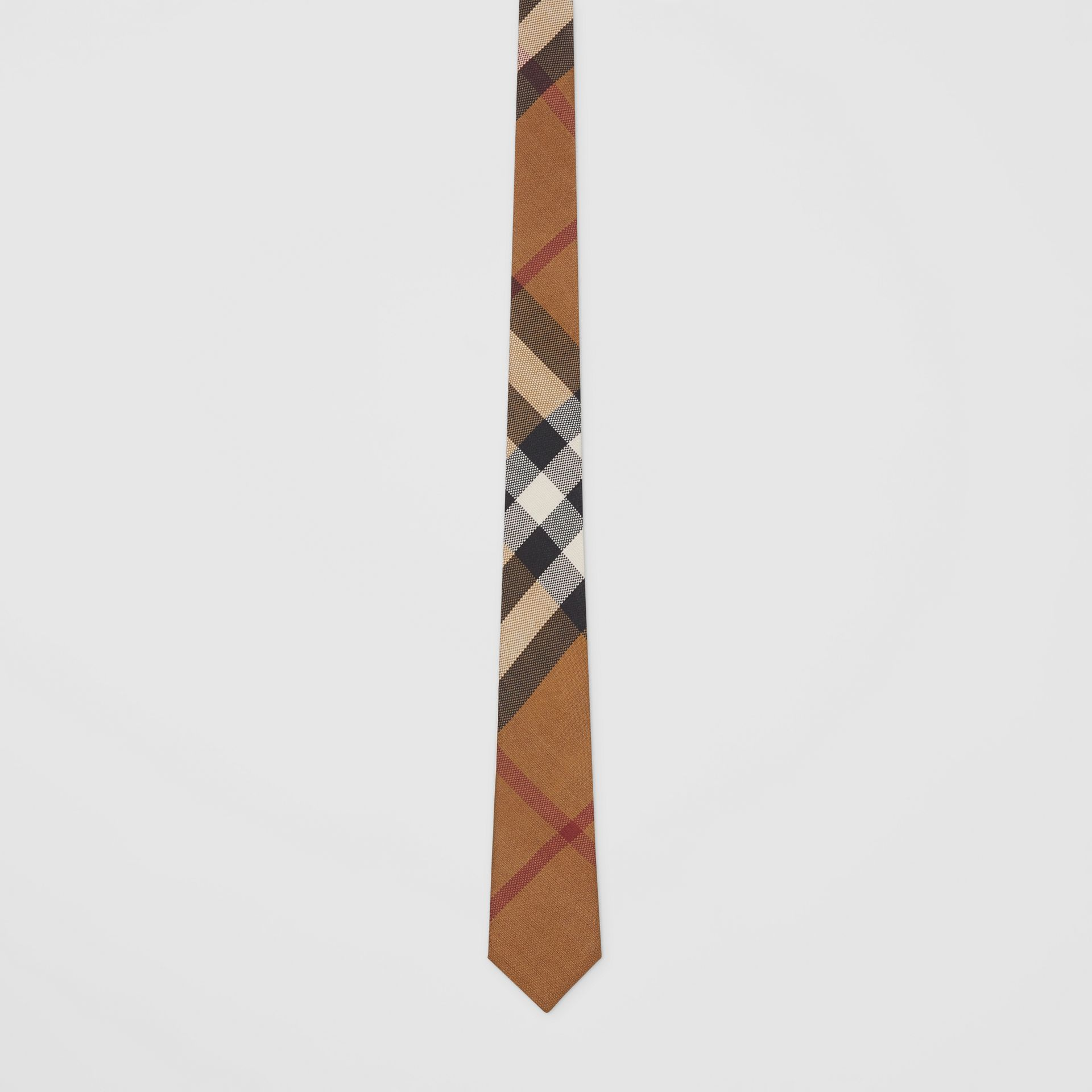 Classic Cut Check Silk Jacquard Tie in Birch Brown - Men | Burberry Canada - gallery image 3