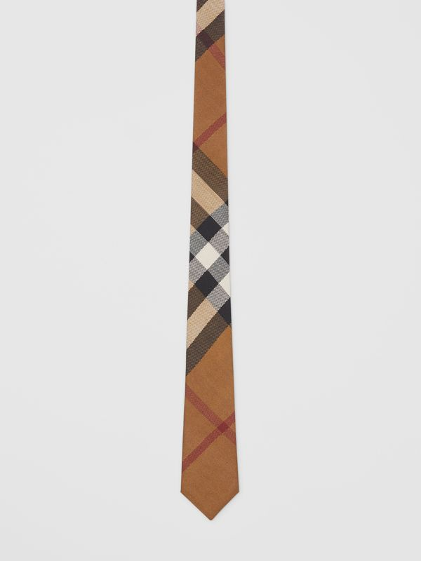 Classic Cut Check Silk Jacquard Tie in Birch Brown - Men | Burberry Canada - cell image 3