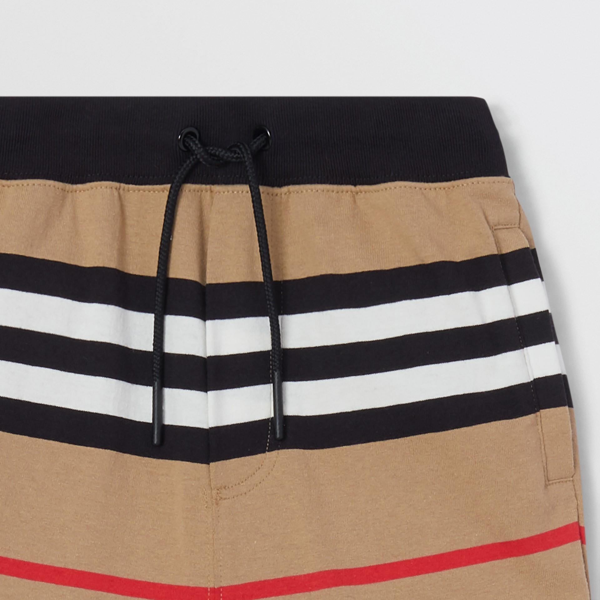 Icon Stripe Cotton Trackpants | Burberry United Kingdom - gallery image 3