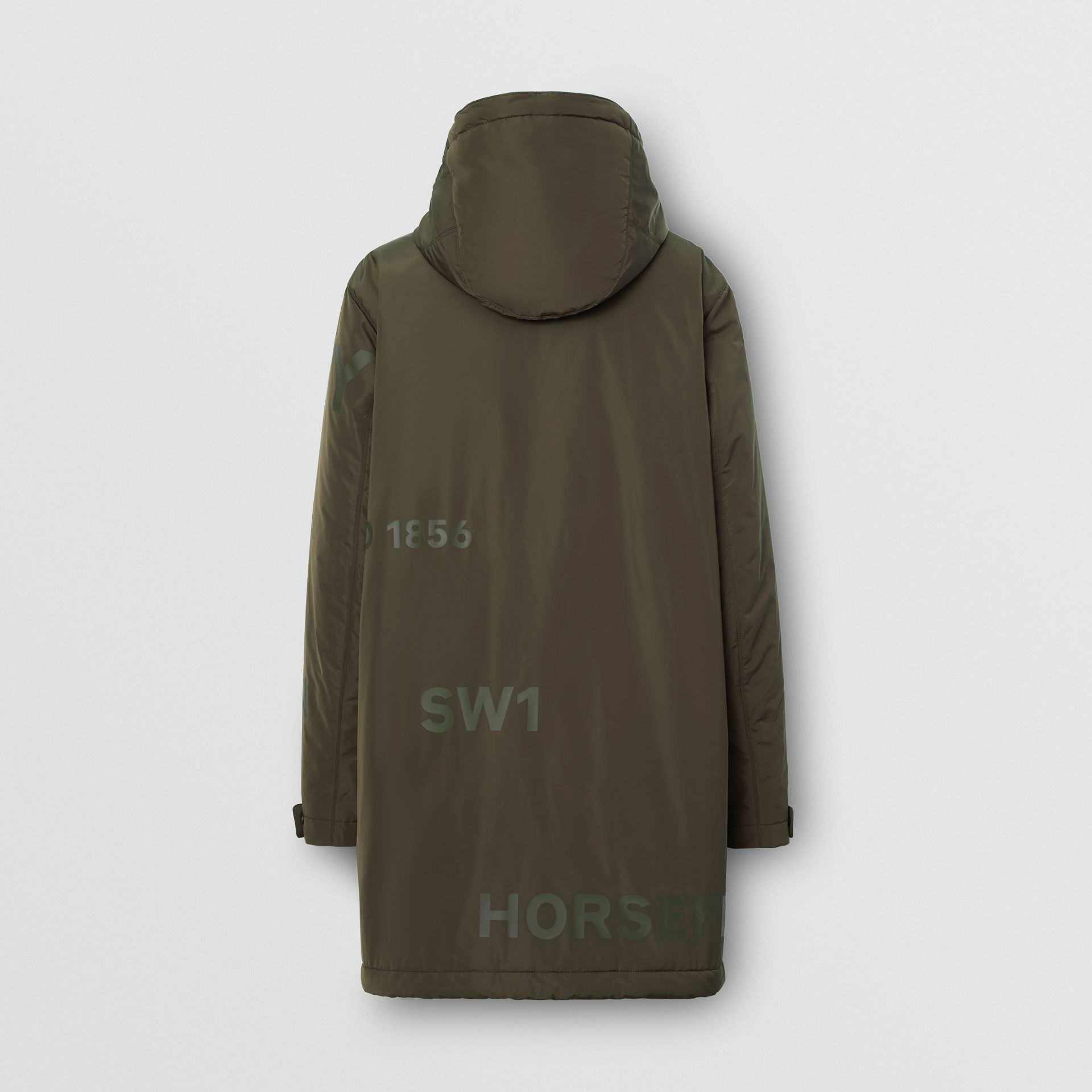 Horseferry Print Shape-memory Taffeta Hooded Coat in Khaki - Men | Burberry - gallery image 7