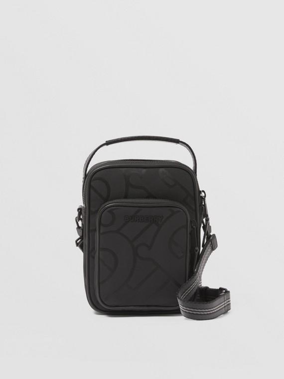 Monogram Recycled Polyester Jacquard Crossbody Bag in Black