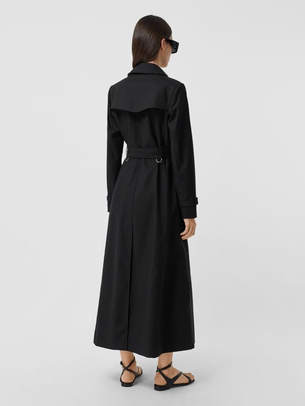 Pocket Detail Cotton Gabardine Trench Coat in Black - Women | Burberry - cell image 2