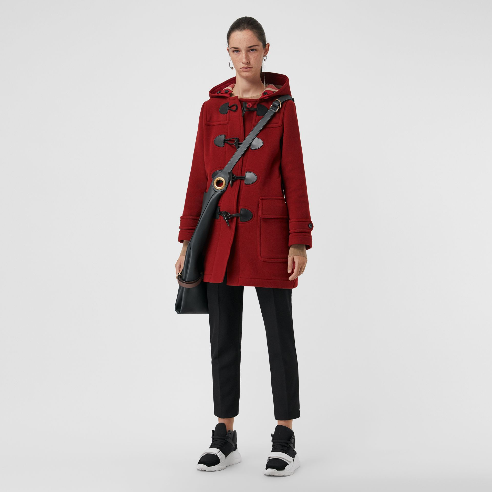 The Mersey Duffle Coat in Parade Red - Women | Burberry Canada - gallery image 0