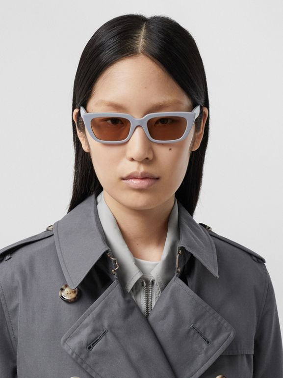 Trench Heritage mi-long The Kensington (Gris Moyen) - Femme | Burberry - cell image 1