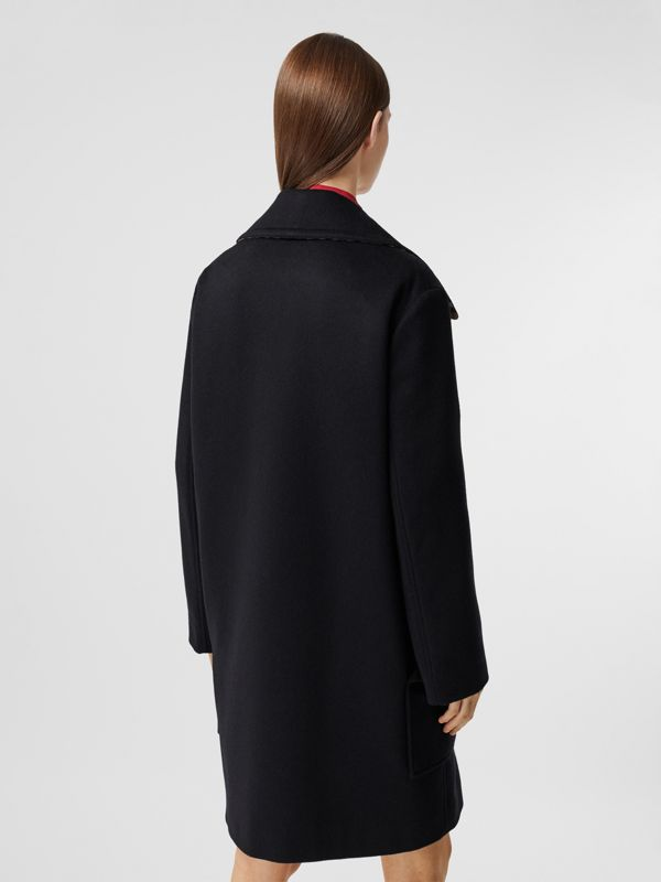 Pocket Detail Cashmere Pea Coat in Navy - Women | Burberry - cell image 2