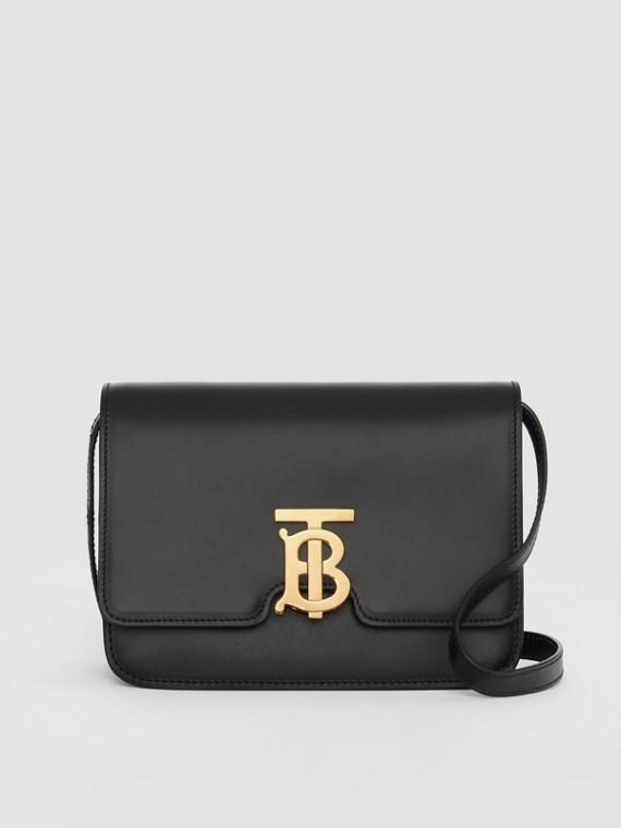 Kleine TB Bag aus Leder (Schwarz)