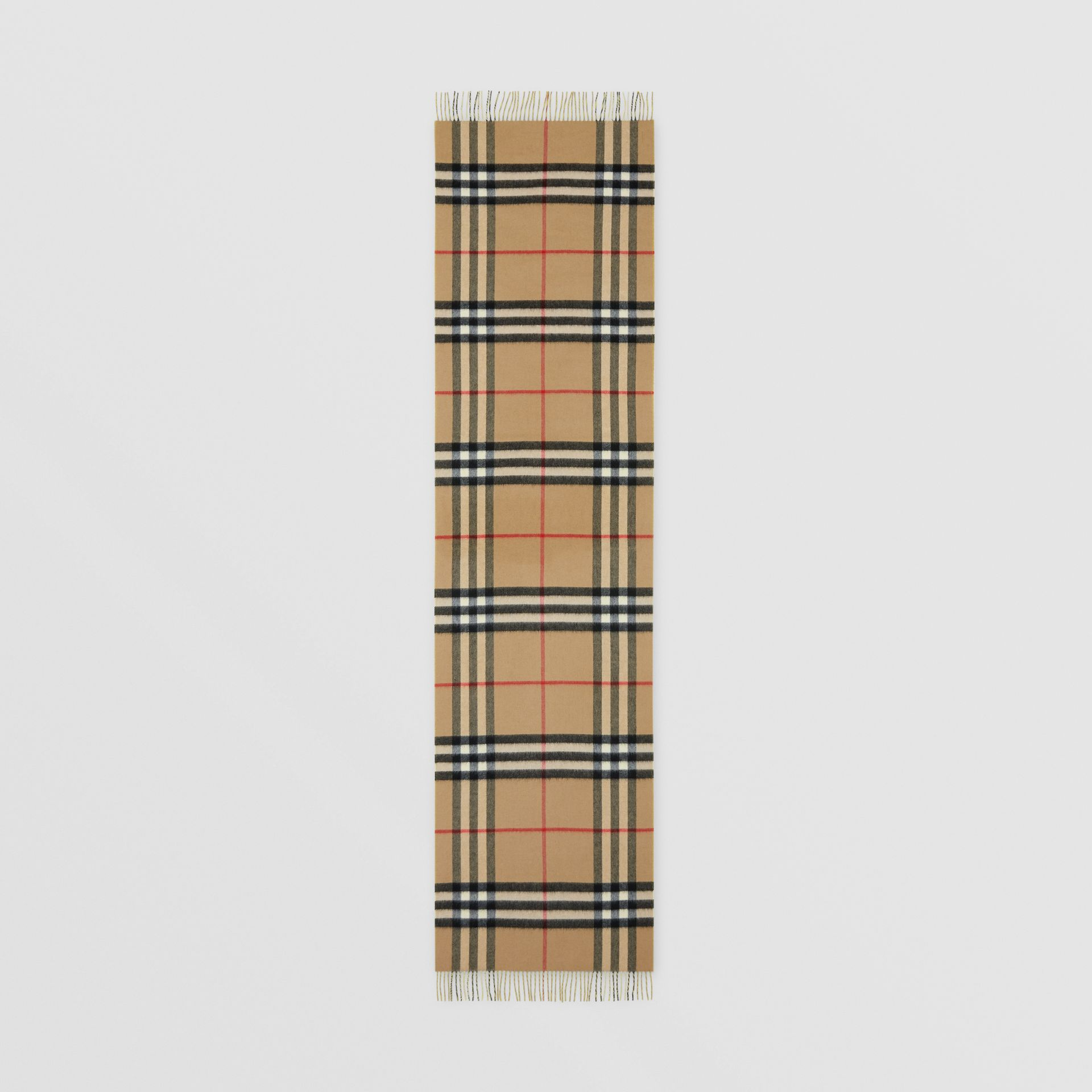 Reversible Check Cashmere Scarf in Yellow | Burberry - gallery image 5