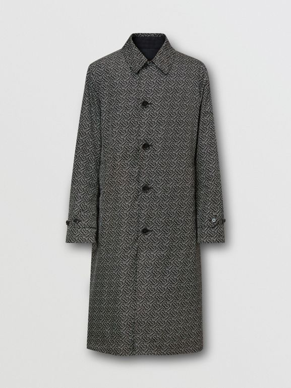 Reversible Logo Embroidered ECONYL® Car Coat | Burberry United Kingdom - cell image 1