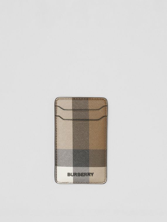 Custodia per iPhone 12 Pro in e-canvas con motivo tartan (Marrone Betulla Scuro)