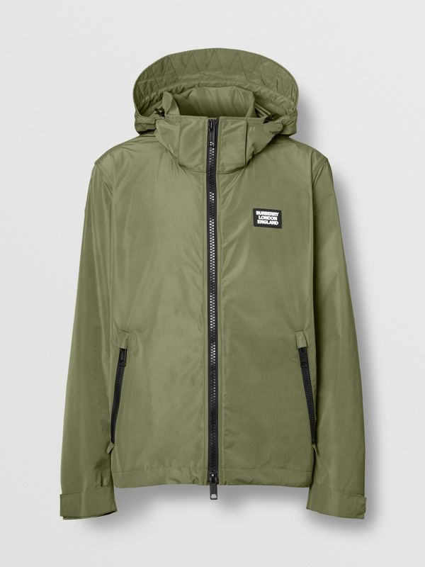 Packaway Hood Shape-memory Taffeta Jacket in Olive - Men | Burberry - cell image 3