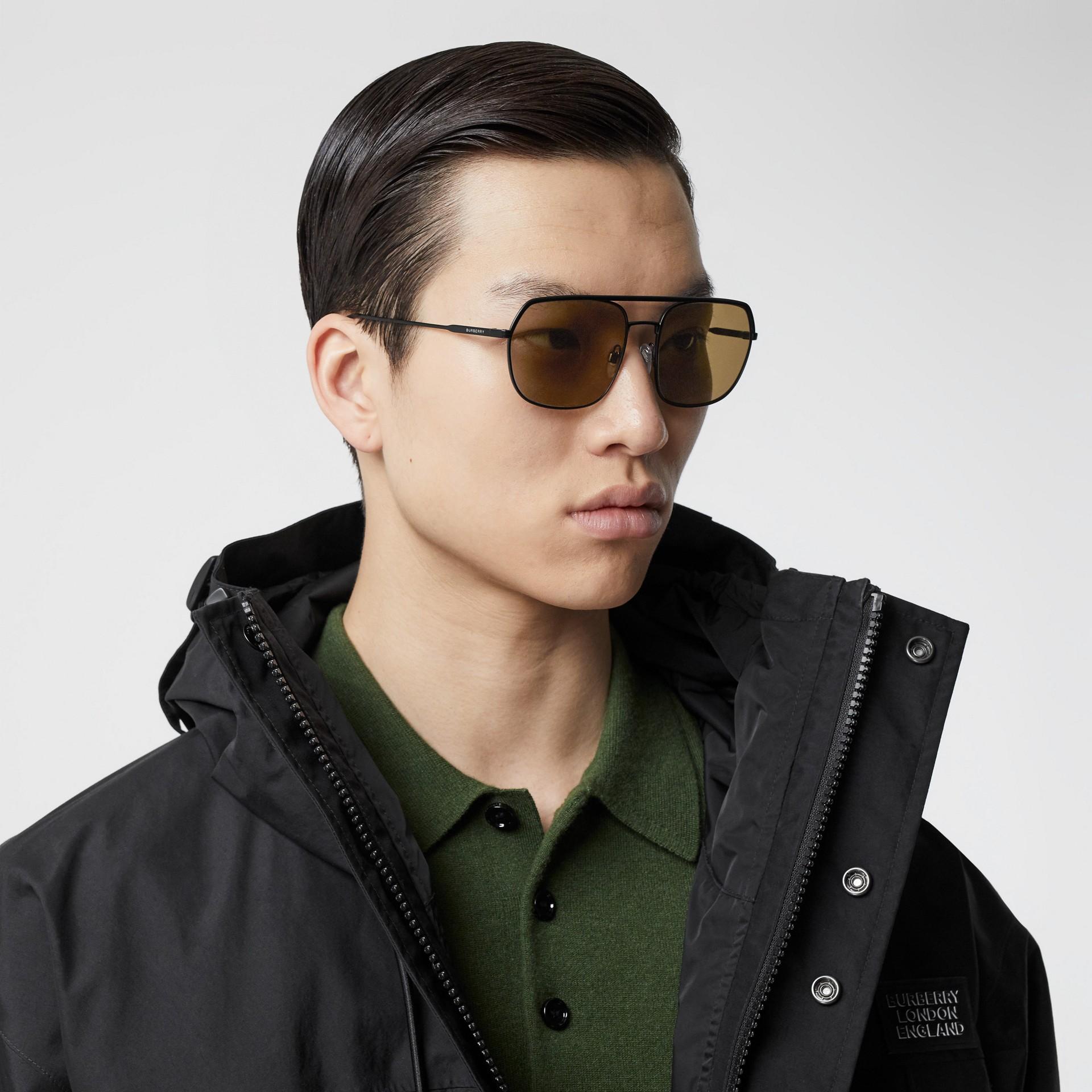 Square Pilot Sunglasses - Men | Burberry - gallery image 2