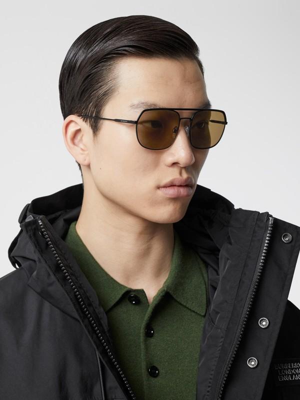 Square Pilot Sunglasses - Men | Burberry - cell image 2
