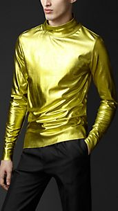 Metallic Silk Sweater