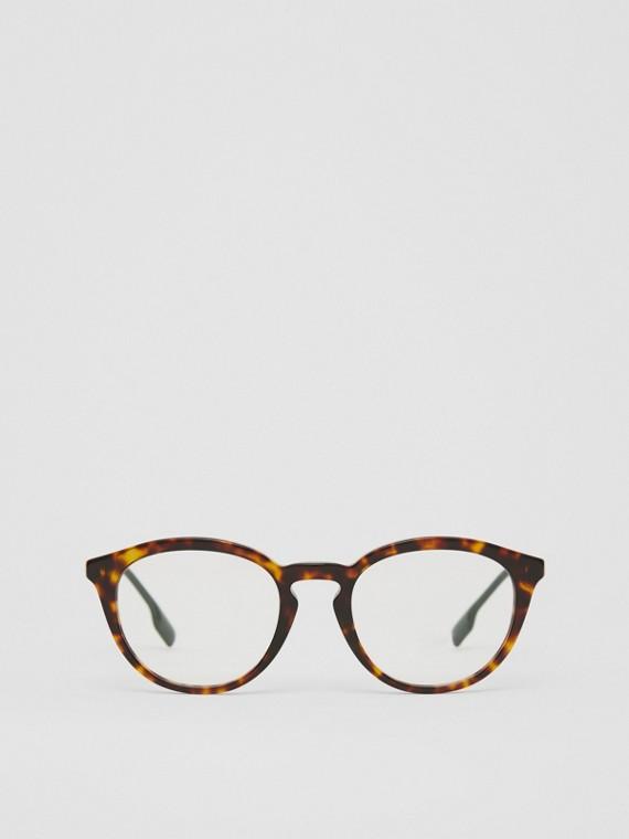 Monture ronde pour lunettes de vue (Écaille  Tortue)