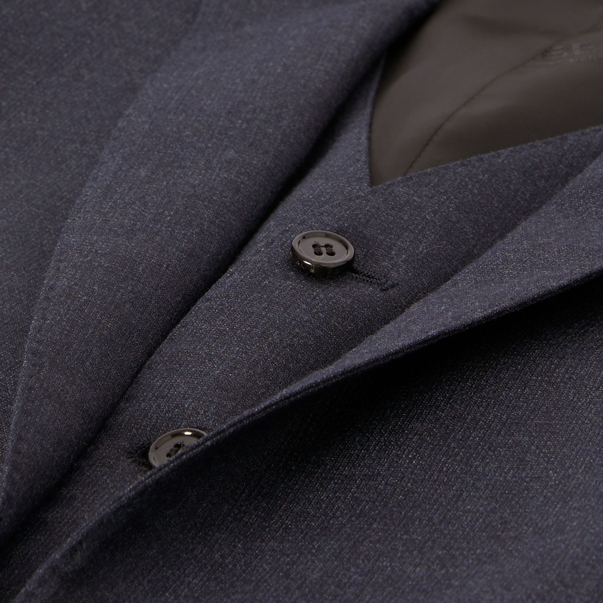 Classic Fit Wool Three-piece Suit in Navy - Men | Burberry - gallery image 9