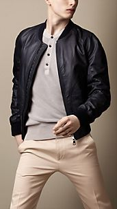 Rubberised Leather Blouson