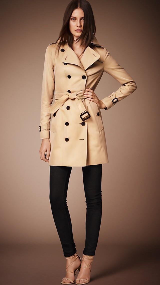 women 39 s heritage trench coat in honey burberry. Black Bedroom Furniture Sets. Home Design Ideas