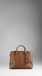 Small Alligator Leather Holdall