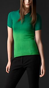 Dégradé Stretch-Silk Sweater