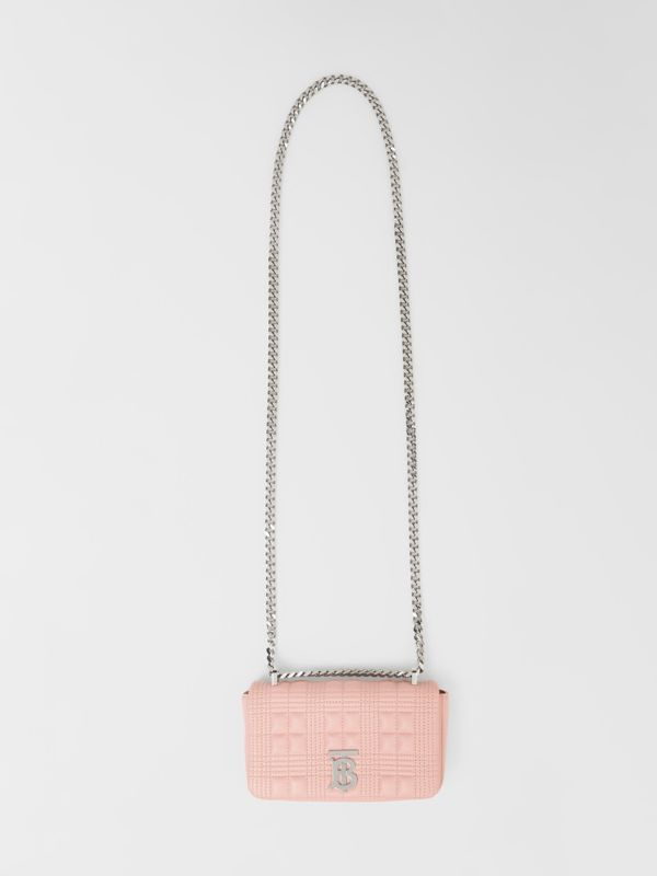 Mini Quilted Lambskin Lola Bag in Blush Pink - Women | Burberry - cell image 3