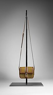 Colour Block Leather Crossbody Bag