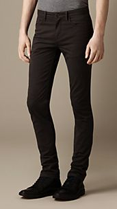 Skinny Fit Garment Dye Chinos