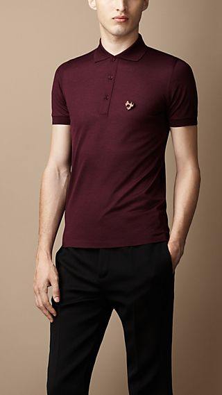 Detachable Heart Pin Polo Shirt