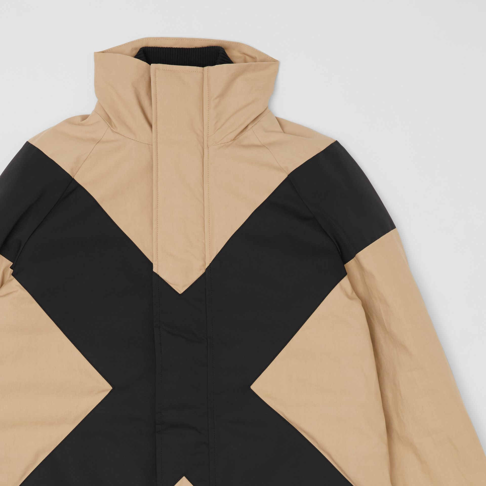 Panelled Down-filled Cotton Jacket in Honey | Burberry - gallery image 5