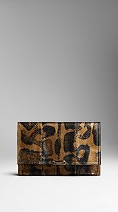 Printed Python Clutch Bag