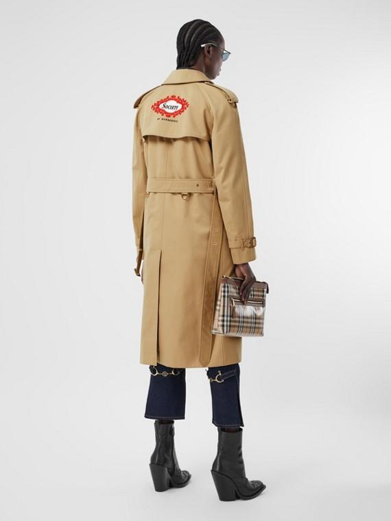 Trenchcoat mit Futter in Vintage-Schaldesign-Optik