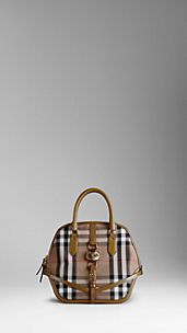 Bolso Orchard mediano de checks House en cuero engrasado