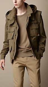 Detachable Hood Field Jacket