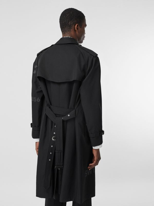 Horseferry Print Cotton Gabardine Trench Coat in Black - Men | Burberry - cell image 2
