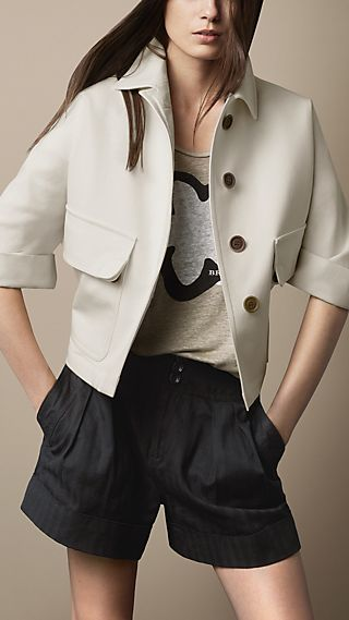 Sculptural Cotton Jacket