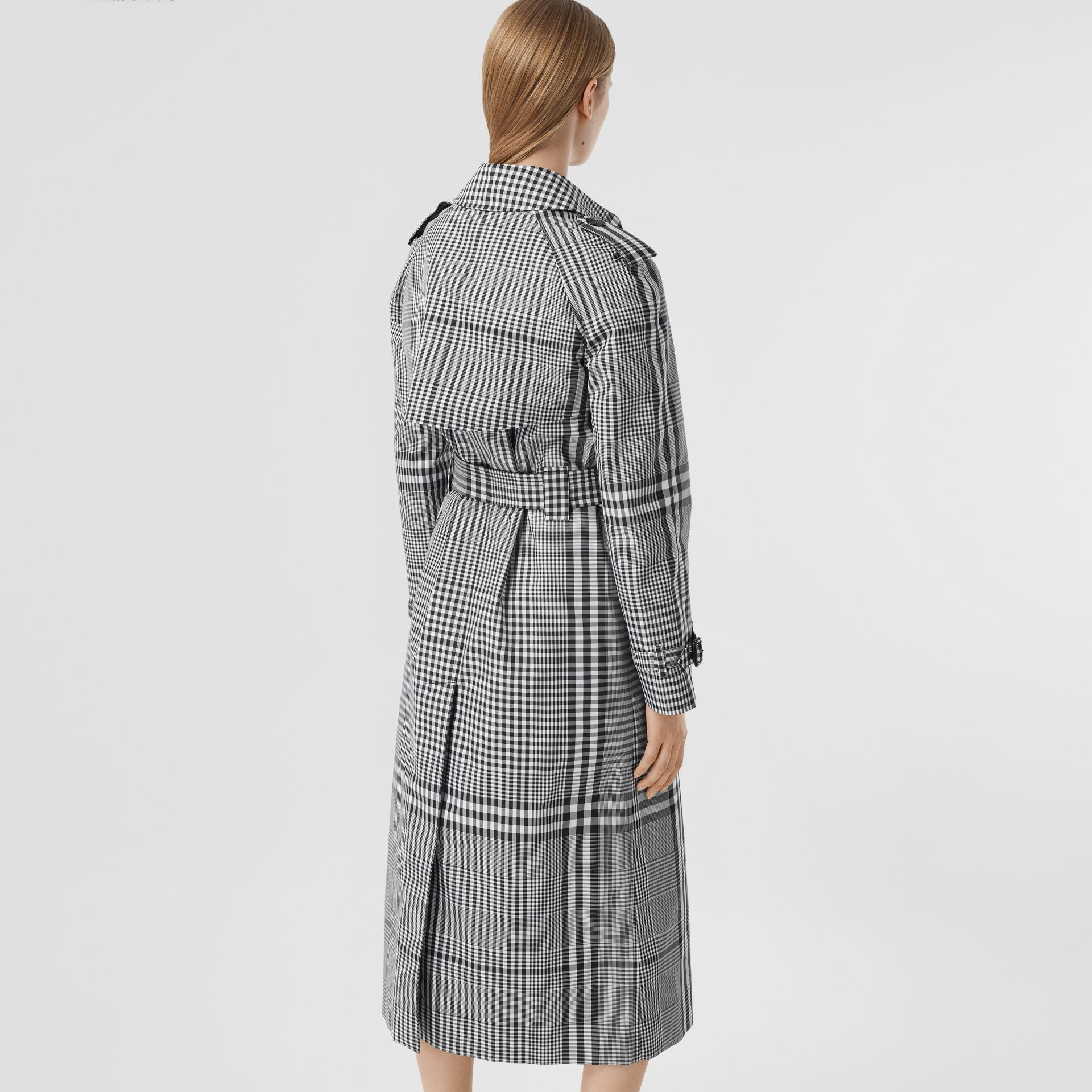 Check Twill Trench Coat in Black/white - Women | Burberry United States - gallery image 2