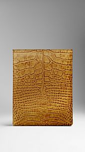 Alligator Leather iPad Case
