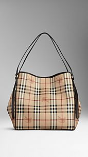 Medium Haymarket Check Tote Bag