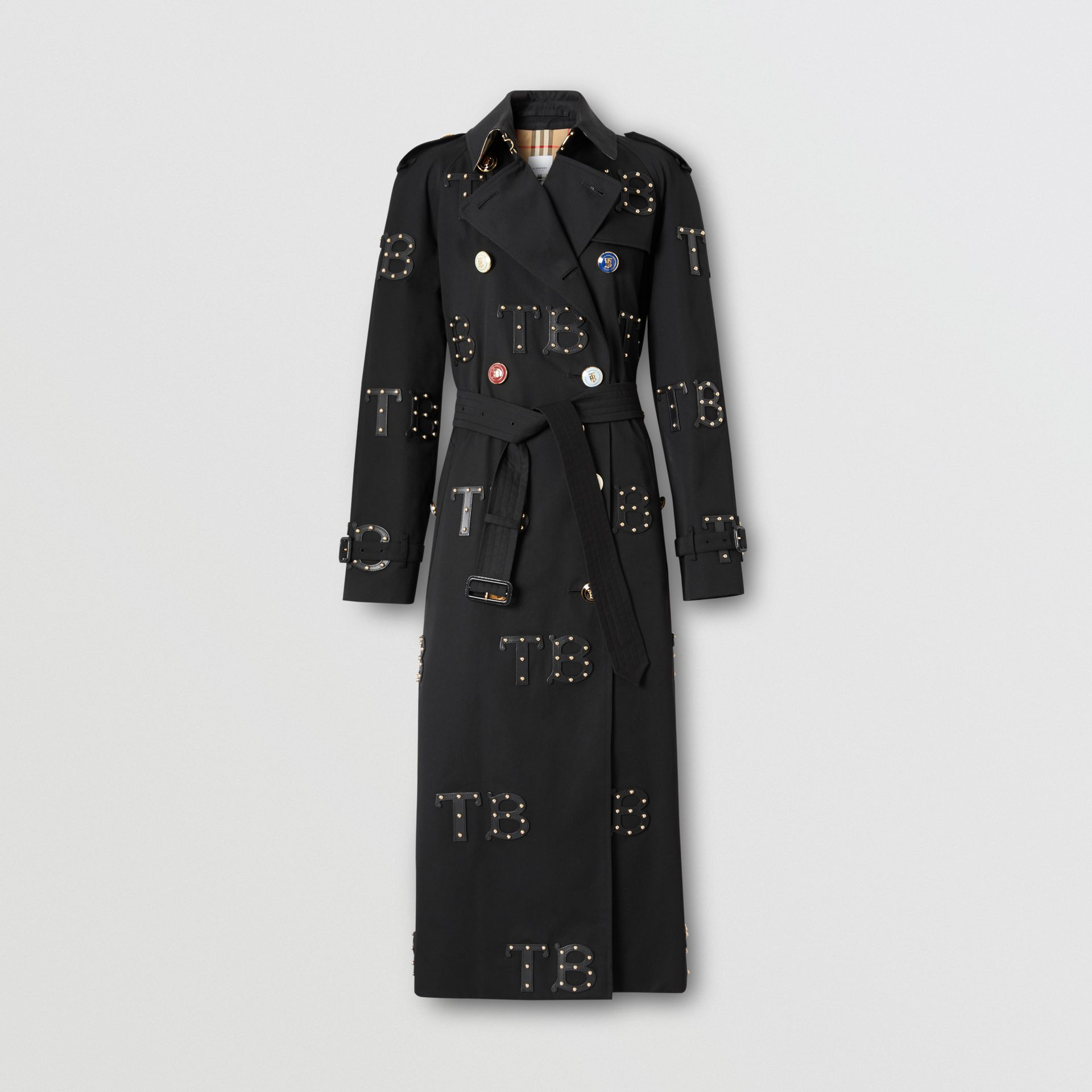 The Long Waterloo Trench Coat in Black | Burberry Australia - gallery image 0